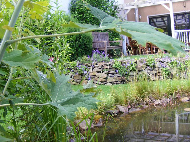 Garten und Landschaftsbau Hamm Melbert Gartenteich Wasserlauf